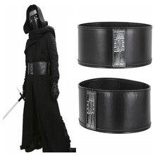 1 unids Star Wars Kylo Ren pretina Complementos para disfraces para hombre  de la correa de la PU ajustable Jedi asesino Cosplay . cb3b950fc44b
