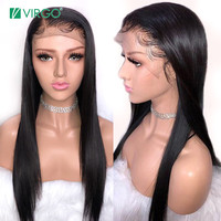 Straight Lace Front Human Hair Wigs for Black Women Peruvian Remy Hair Lace Front Wigs With Baby Hair Pre Plucked Bleached Knots