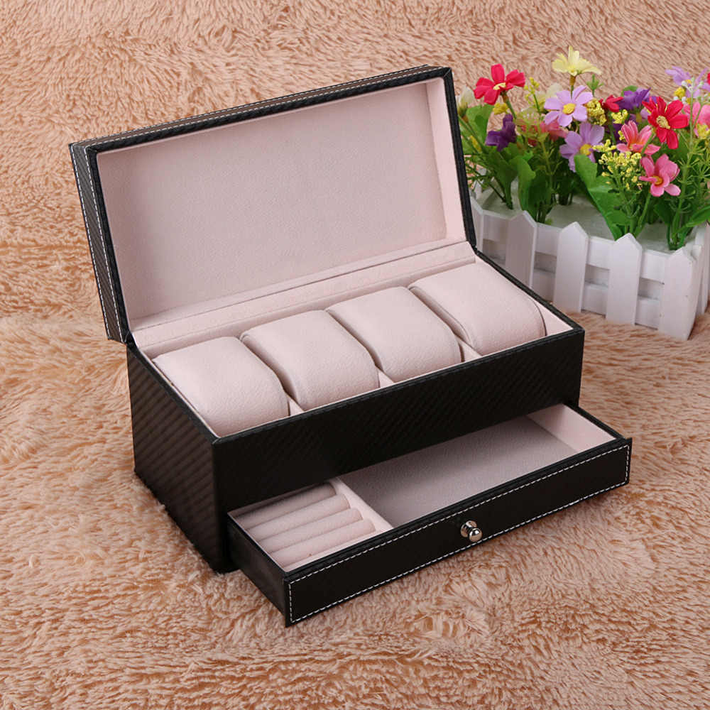 Watches Boxes Jewelry organizer Display Storage Box Case Leather Square Jewel Case Watch Box watch jewelry boxes