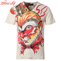 Men 3D Printed Monkey T-shirt Brand Summer Short Sleeve Cotton Casual Plus Size Tees Slim Fit Fashion Chemise Homme F2078