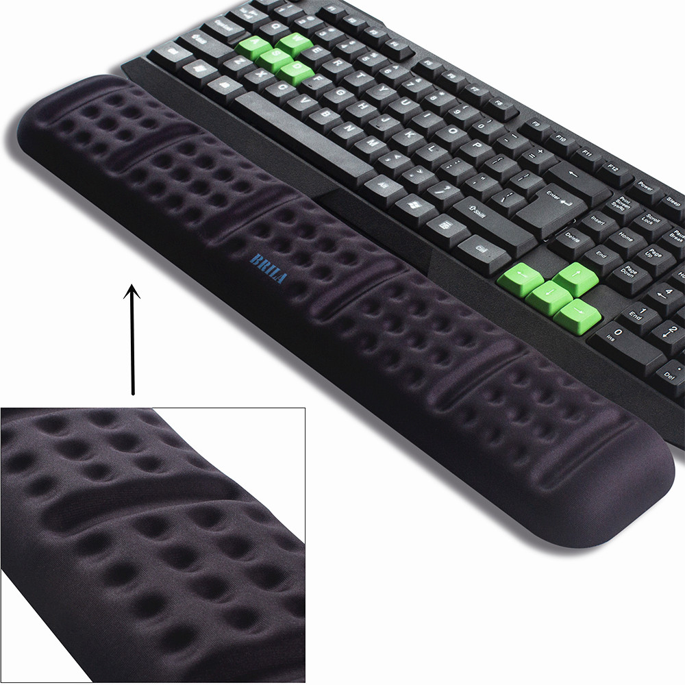 Keyboard Wrist Rest Support Cushion Pad, Comfortable Memory Foam Padded, Ergonomic Wrist Pillow For Office & Gaming Keyboard