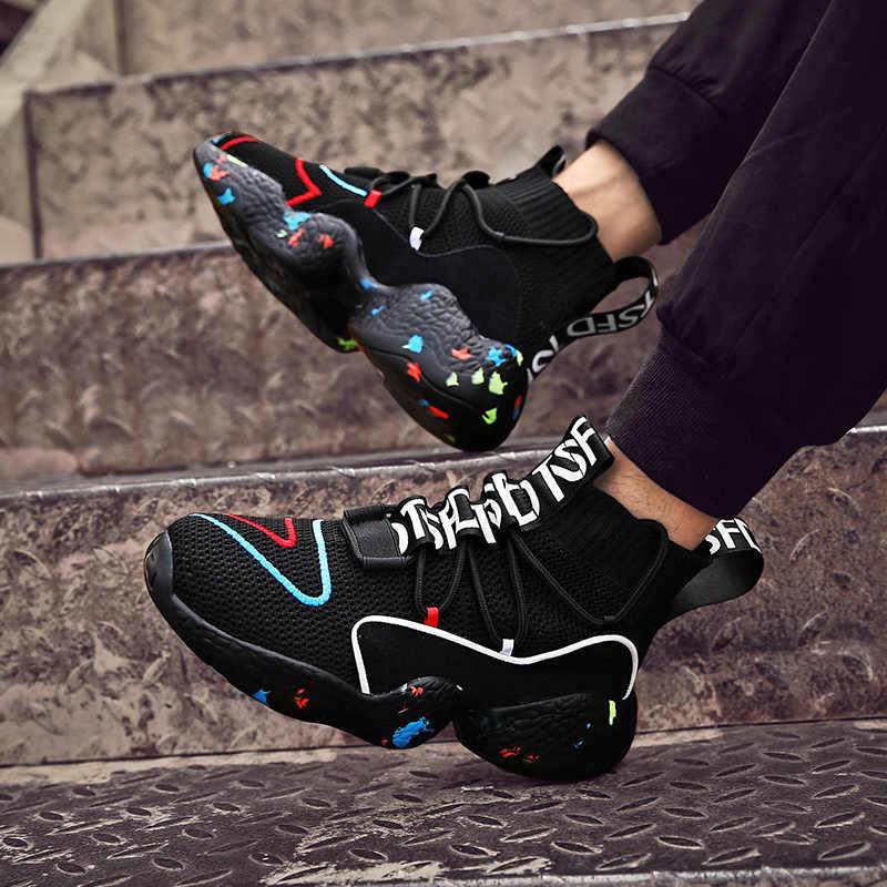 ERNESTNM 2019 zapatillas blancas de tacón alto Casual Flats señoras vulcanizadas Zapatos de moda negro otoño zapatillas Mujer