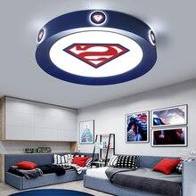 Modern led ceiling light  children room pink blue round lightis for kids baby bedroom home lighting decorative lamp