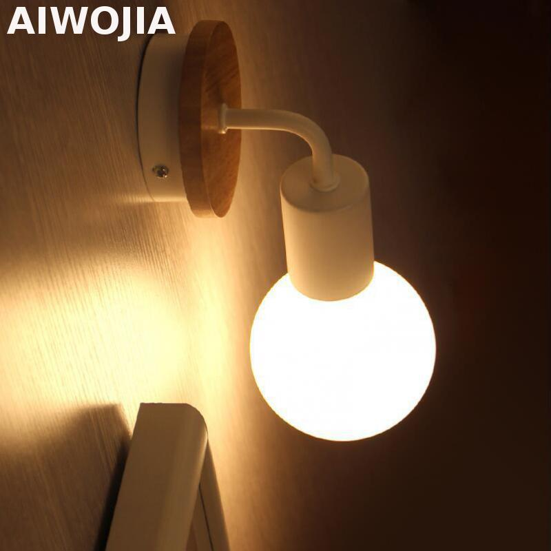 AIWOJIA Modern wood Wall Light Sconce Indoor Lights For Home ...