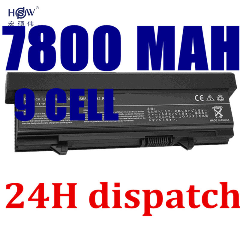 HSW 7800MAH new 9Cell Laptop battery for DELL Latitude E5400 E5500 E5410 E5510 KM742 KM752 MT186 MT187 bateria akku us new replace laptop keyboard for dell for latitude e5300 e5400 e5500 e5510 e5410