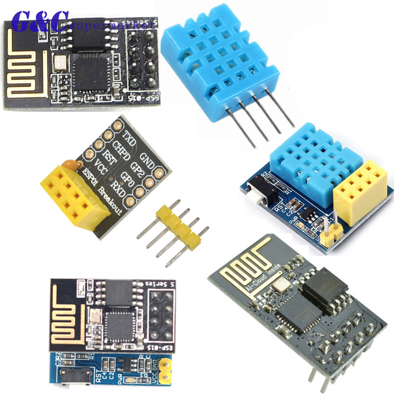 ESP8266 ESP-01 ESP-01S DHT11 Temperature Humidity Sensor Module esp8266  Wifi NodeMCU Smart Home IOT