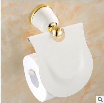 Toilet paper holder paper roll holder tissue holder solid brass gold finished bathroom - Gold toilet paper holder stand ...