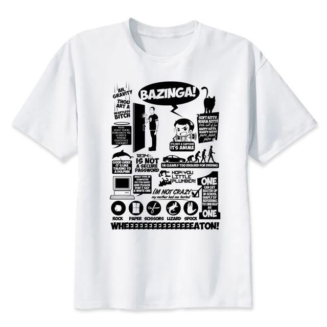 cc711954 The Big Bang Theory TShirt men Summer O Neck white youth t shirt casual  white print anime t-Shirts men funny top tees