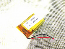 102540 3.7V 1300mAh Rechargeable Li-Polymer Li-ion Battery For mp3 mp4 mp5 toys DVR GPS PDA Tools LED Ligts Lamps 982438 102541