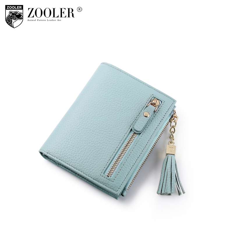 2018 new ZOOLER Woman mini wallet Genuine leather wallets womens purses luxury zipper clutch coin purse women money bag r113