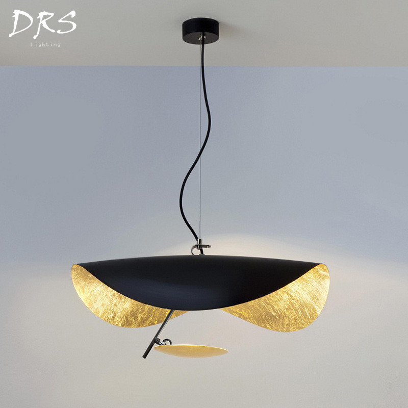 Postmodern Led Pendant Lights Flying Saucer Hat Art Home Decor Living Room Restaurant Kitchen Lights Hanging Luminaire Lighting