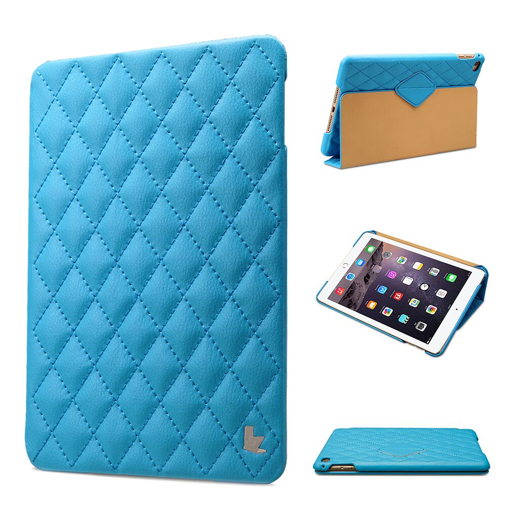 Jisoncase Luxury Smart Cover for iPad mini 4 Stand Cases Vegan Leather with Magnetic Auto Wake