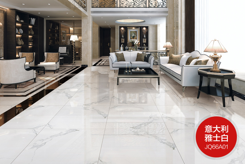 White Floor Tiles Living Room 800800mm Foshan High Quality Aston Glaze
