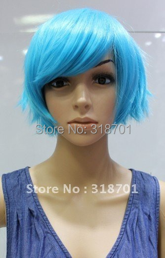 (Free Shipping)Beautiful Light blue Hair Pokemon Cosplay Wigs