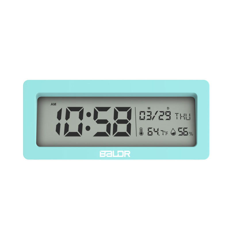 Baldr Wall Clock Big Blue Backlight LED Display Alarm Snooze Digital Desk Clock
