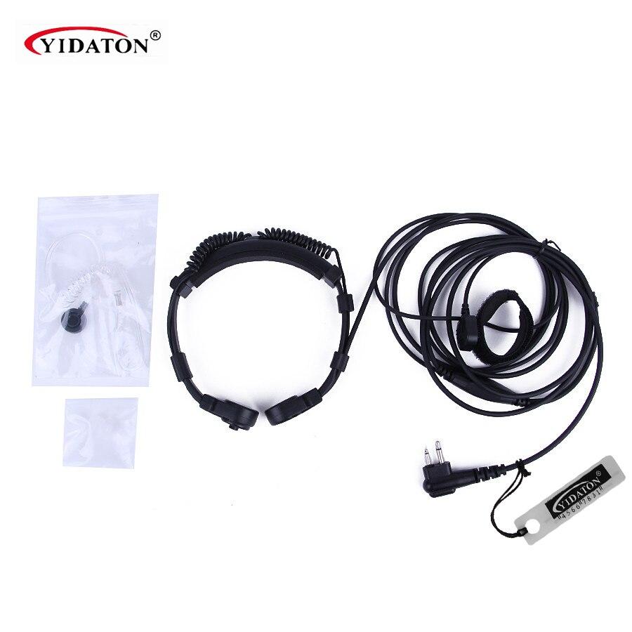 Sécurité Gorge Microphone Mic Casque Casque PTT pour Motorola Talkie Walkie Portable Radio GP300 EP450 CP040 Jambon Radio CP200