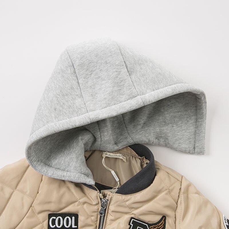 DBM9249 dave bella baby boys cotton jacket children  outerwear fashion khaki coat