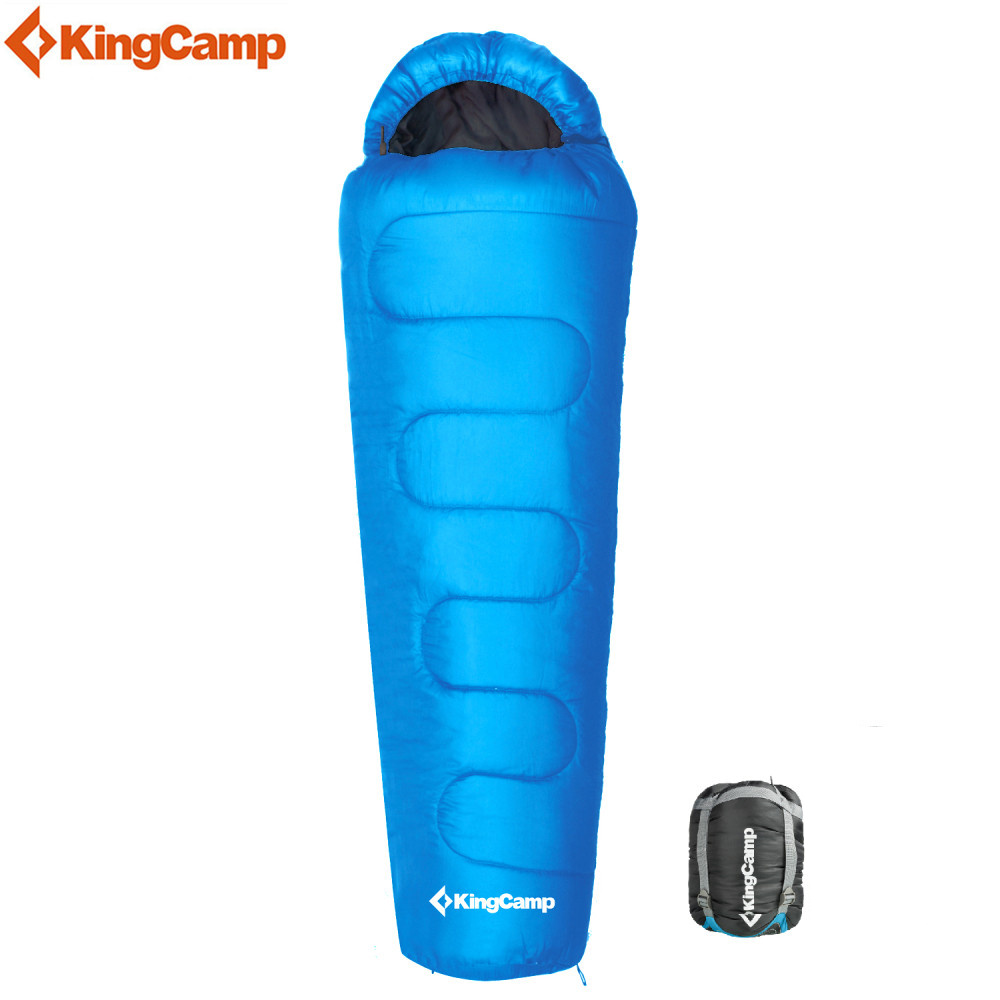 KingCamp Winter Sleeping Bags Outdoor Mummy Camping Hiking Adult Sleeping Bags 3-4 Seasons 2018 wnnideo adult mummy 4 season sleeping bag warm length adjustable outdoor camping hiking travel zs7 1901