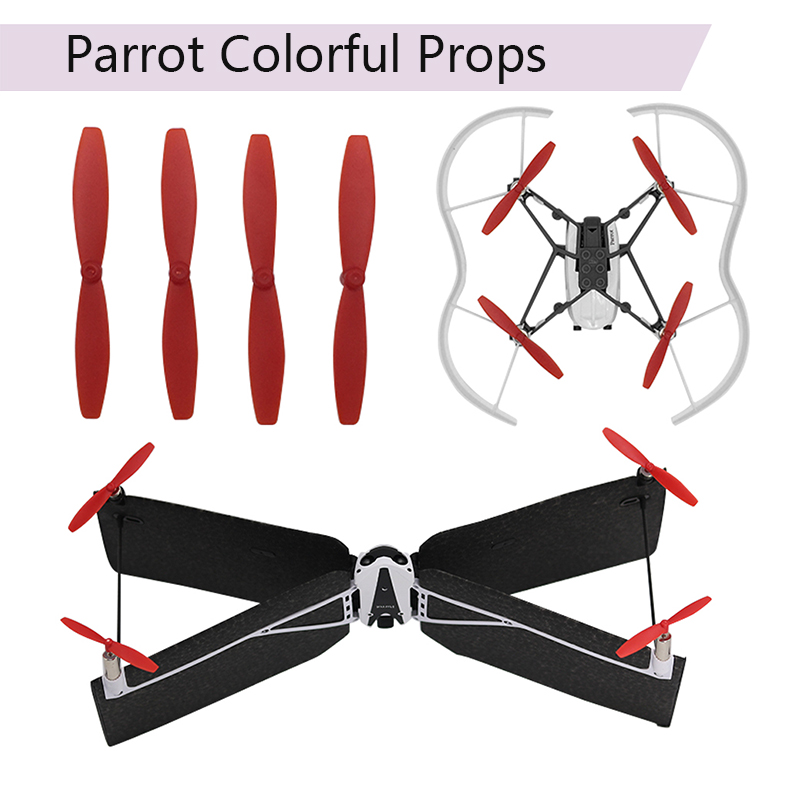 4pcs Colorful Props Parrot Mini Drone Mambo Swing Propeller Parts Blade Spare Props Cw Ccw Blade Toys Drone Plane Accessories