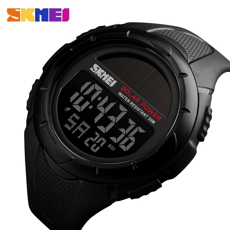 Skmei Military Sport Watches Men Solar Power Outdoor Shock Digital Watch Chrono 50m Water Resistant Wristwatches Reloj Deportivo Men's Watches Watches