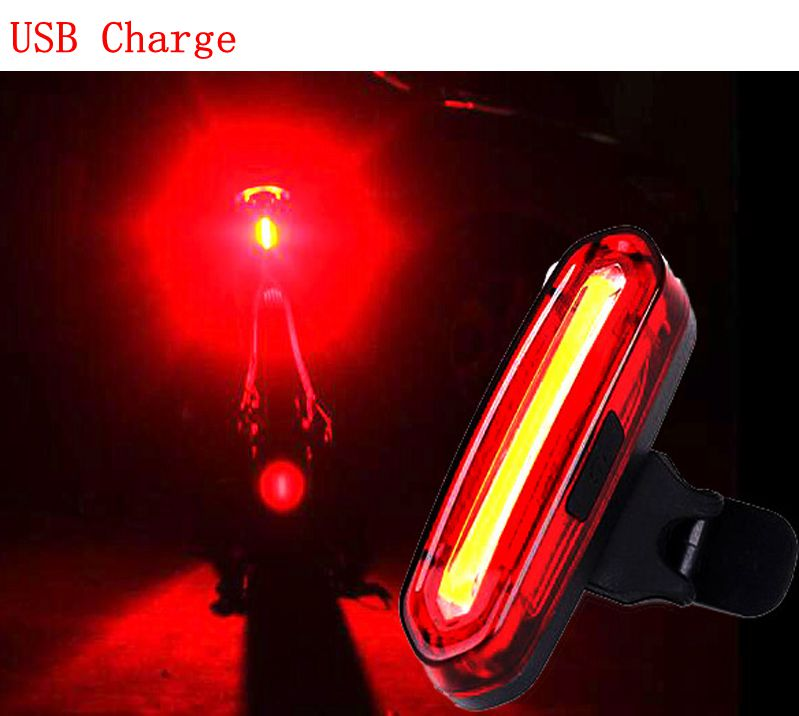 Deemount Mountain <font><b>Bike</b></font> Tail <font><b>Light</b></font> 100 <font><b>LM</b></font> Rechargeable COB LED USB Taillight MTB Safety Warning Bicycle Rear <font><b>Light</b></font> Bicycle Lamp image