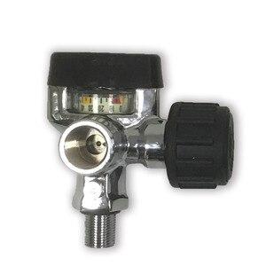 Image 1 - AC921 مسدس Airgun لالرماية التكتيكي 4500PSI Hpa خزان الألوان m4 Airsoft M18 * 1.5 صمام أسود Airsoft بندقية الهواء G5/8 صمام