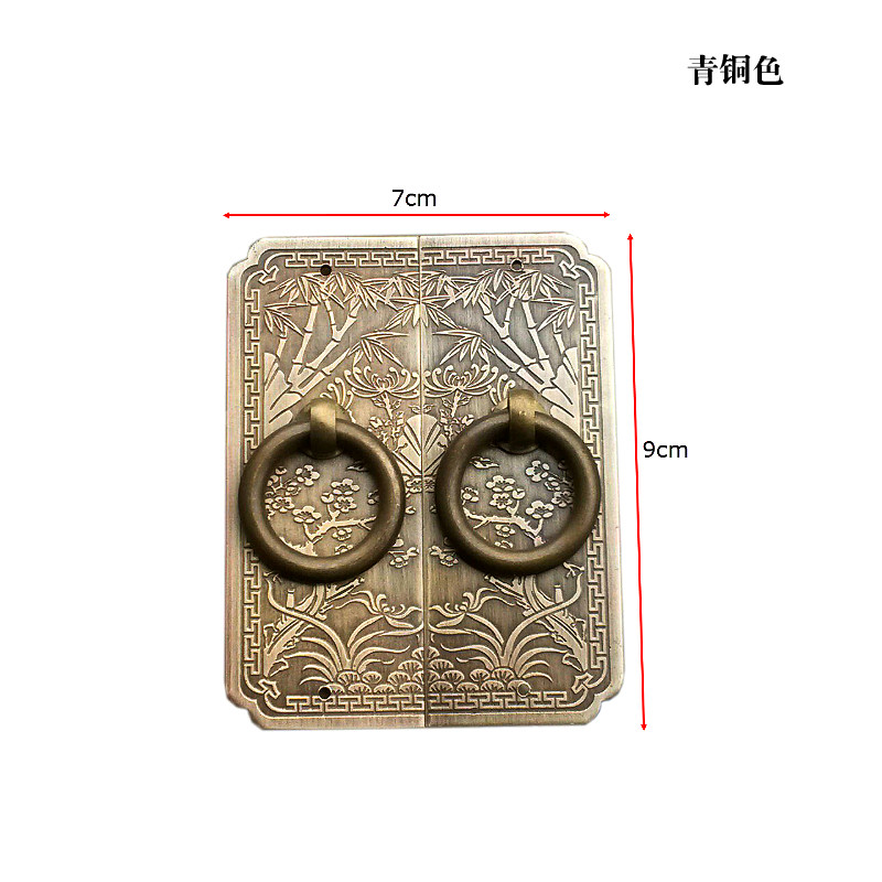 Chinese antique furniture accessories copper handle door handle and cabinet wardrobe cabinets thickened copper handle chinese furniture decorative copper accessories cabinet door latches lock long semicircle decoration accessories