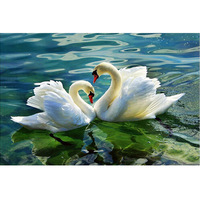 Home Beauty 3d Diy Full Diamond Painting Embroidery Kits Crystal Rhinestone Picture Diamond Mosaic Swan Love