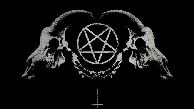 Home Decoration Dark Horror Gothic Occult Satan Penta Symbol Silk