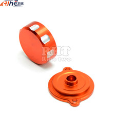motorcycle cnc front&rear brake master cylinder reservoir cover cap orange For KTM DUKE 125 200 390 RC200 RC390 2012 2013 2014