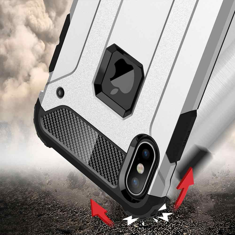 Strong Hybrid Tough Shockproof Armor Phone Case for iPhone 11 Pro MAX 11 XS MAX XR X 8 7 6S Plus 5S SE Hard Rugged Impact Cover