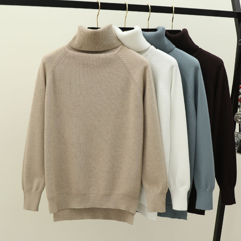 GIGOGOU Turtleneck Women Sweater Winter Warm Female Jumper Thick Christmas Sweaters Ribbed Knitted Pullover Top Pull