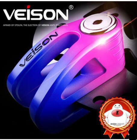 VEISON New Security Protect Anti Motorcycle Thief Electric Motobike Bike Motocross Scooter Wheel Brake Disc Lock Zinc Alloy