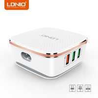 LDNIO Quick Charge 2 0 6 Ports USB Travel Charger Fast Charge Universal Travel Charger For