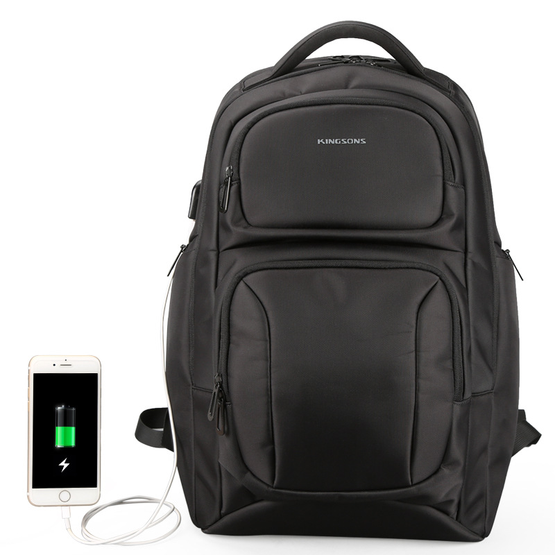 Kingsons Large Capacity Backpack Anti Theft Backpacks Shoulder Bags Men's Laptop Backpack Travel Bag Student School Bag men backpack student school bag for teenager boys large capacity trip backpacks laptop backpack for 15 inches mochila masculina