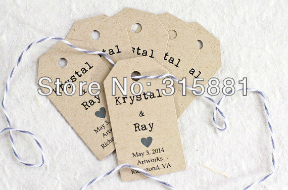 wedding gift tag bridal shower favor tag wedding tags name tags brown 4x7cm 500pcslot in party diy decorations from home garden on aliexpresscom
