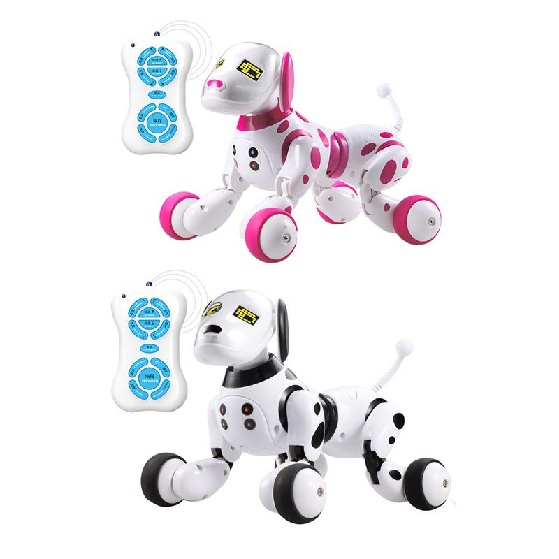 DIMEI Birthday Gift RC Zoomer Dog 2.4G Wireless Remote Control Smart Dog Electronic Pet Educational Children's Toy Robot Toys 2 4g wireless remote control smart dog electronic pet educational children s toy dancing robot dog without box birthday gift k10