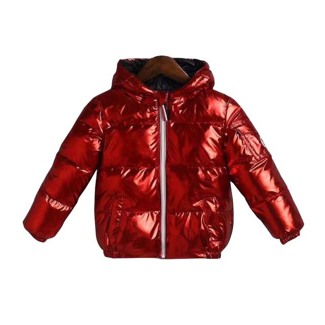 Children Winter Jacket for Girl Kids Silver Gold Boys Casual Hooded Coat Baby Clothing Outwear Kids Parka Jacket Snowsuit Parkas