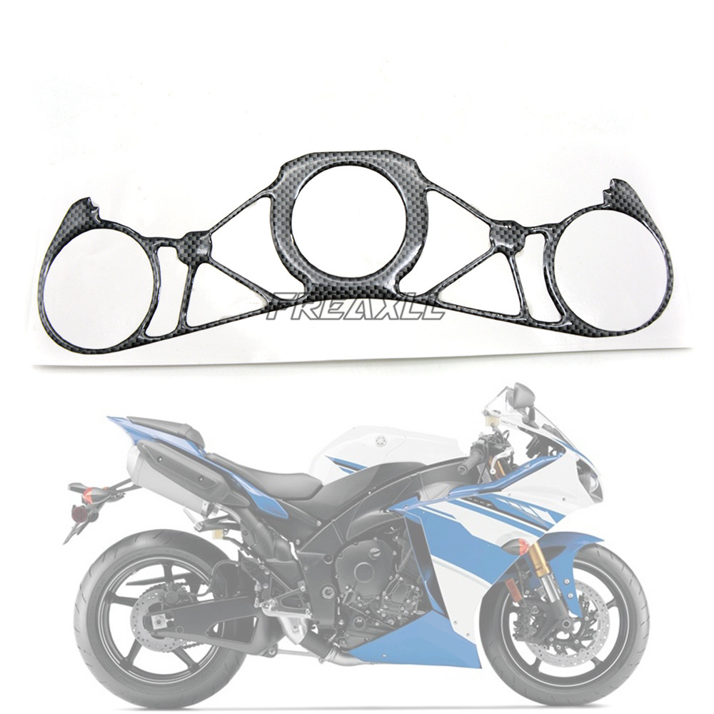 FREAXLL For Yamaha YZF-R1 YZFR1 YZF R1 2009 2010 2011 Motorbike Accessories Motorcycle Steering Bracket Cover Decal Sticker