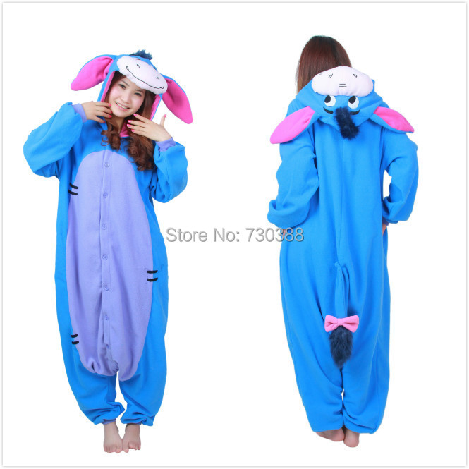 921eb591b60d Halloween Cosplay Adult Anime Animal Eeyore Donkey Pajamas One Piece Unisex  Onesie Party Costumes Sleepwear Jumpsuit on Aliexpress.com