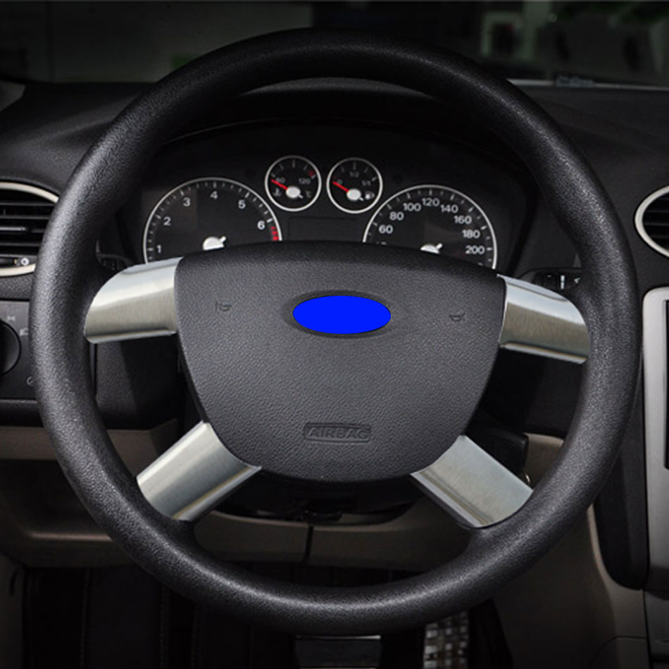 High quality stainless steel steering wheel cover for ford focus 2 2005 2011 2012 2013