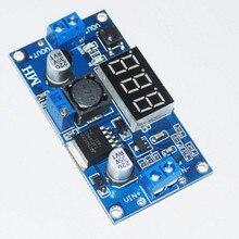 Regulador de Voltagem V a 1.25-35 HOT Ajustável Lm2596 Módulo DA Fonte de Alimentação DC Levou Voltímetro 2.5 36 V Dc-dc Step Down Buck Converter