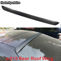 W213 AMG Styling Carbon Fiber Car Rear Roof lip Spoiler Wing For Mercedes Benz W213 4Door 2016UP AMG