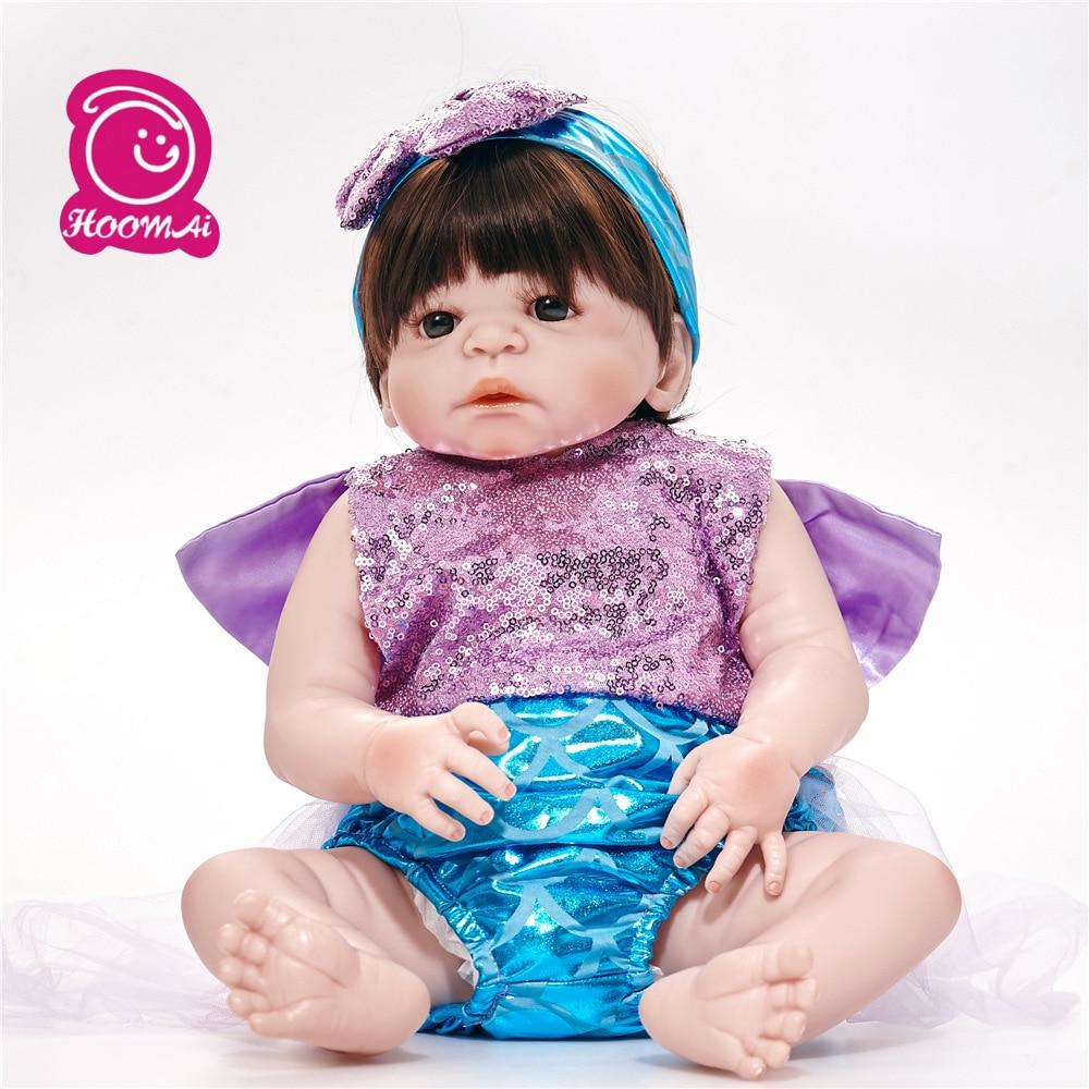 55 Cm Baby Dolls Realistic Bebes Reborn Silicone Girls Toys Lifelike Newborn Baby Dolls Toys for Children Drop Shipping55 Cm Baby Dolls Realistic Bebes Reborn Silicone Girls Toys Lifelike Newborn Baby Dolls Toys for Children Drop Shipping