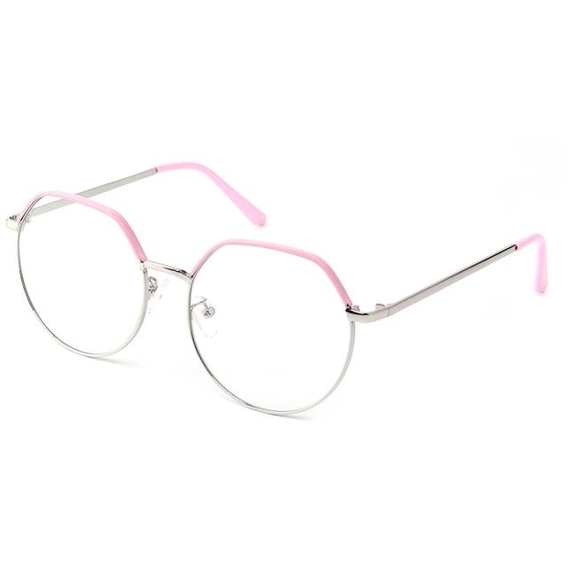 a7fcd7029cc Round Glasses Women Circle Eyeglasses Full Frames Pink Vintage Style Oversize  Retro Eyewear Circle Big Size Computer Frames 8388