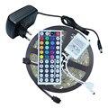 Водонепроницаемый 5050 СВЕТОДИОДНЫЕ Ленты RGB 5 М 150 60leds/М IP65 Гибкие Светодиодные Ленты лента С 44key RGB Пульт дистанционного управления + 12 В 2A Адаптер Питания