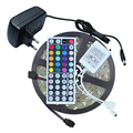 Waterproof 5050 LED Strip RGB 5M 150Leds/M IP65 Flexible Led Tape Ribbon With 44key RGB Remote Controller + 12V 2A Power Adapter