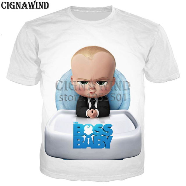 5a0a55102 Latest funny movie cartoon cute Boss Baby t shirt men/women 3D print t- shirts casual Harajuku style tshirt streetwear summer top