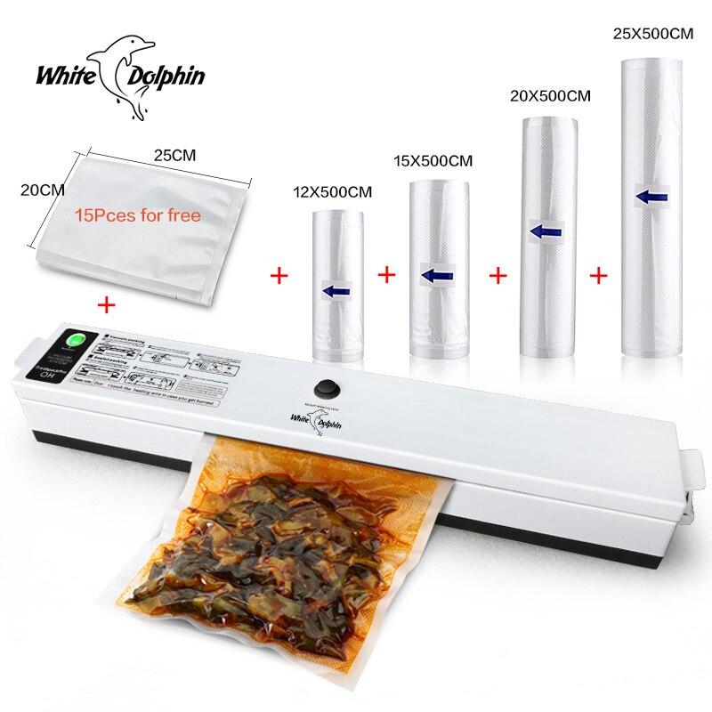 Home Food Vacuum Sealer Packaging Machine 220V 110V Sealer Vacuum Saver Storage Bags Rolls Electric Sealing
