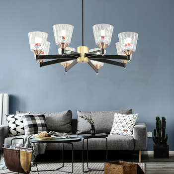 Современный дизайнерский подвесной светильник со стеклянным шаром, светодиодная лампа с регулируемой яркостью, Золотая железная штанга, п...